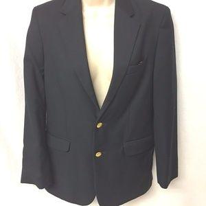 Nautica Dark Blue Blazer Jacket Gold Buttons EUC